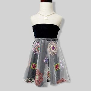 Hmong White Mesh Skirt WITH Matching Scrunchies